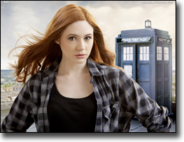 Karen Gillian plays Amy Pond