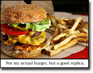 This isn't my actual burger, but it could be its long lost twin!